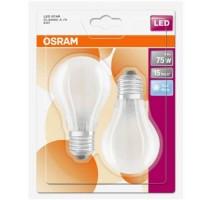 OSRAM Lot de 2 Ampoules LED en verre dépoli E27 230V 8W 1055lm standard blanc froid