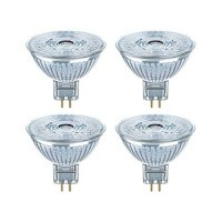 OSRAM Lot de 4 Spots LED MR16 GU5.3 36° 12V 4,6W(=35W) 350lm 2700°K