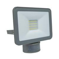 Projecteur extérieur LED extra plat à détection 230V 10W 900lm 4000°K gris