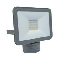 Projecteur extérieur LED extra plat à détection 230V 20W 1800lm 4000°K gris