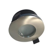 Spot LED encastrable IP65 82mm GU5.3 230V 5W 380lm 3000°K alu brossé