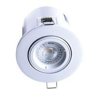 Spot LED BBC rond encastrable et orientable 100mm GU10 230V 5W 380lm 3000°K blanc