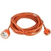 Rallonge électrique de jardin 25m H05VV-F 2X1,5 orange