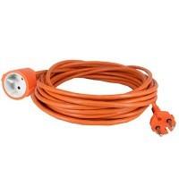 Rallonge électrique de jardin 50m H05VV-F 2X1,5 orange