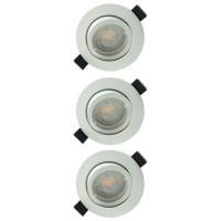 Lot de 3 spots LED encastrables et orientables 83mm GU10 230V 3x5W 380lm 2700K blanc