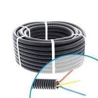 Gaine électrique ICTA préfilée 3G2.5 R/B/VJ D20 - Couronne de 100m