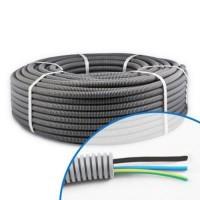 Gaine électrique ICTA préfilée 3G1.5 D16 N/B/VJ