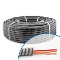 Gaine électrique ICTA préfilée 3x1.5 D16 O/O/R - Couronne de 100m