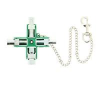 E-ROBUR Clé universelle en croix 9 empreintes pour armoire électrique - 394013