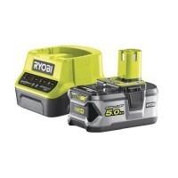 RYOBI Batterie 18V 5Ah et chargeur rapide 2Ah One+ - RC18120-150