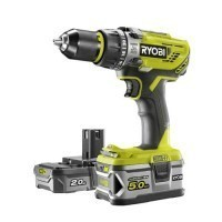 RYOBI Perceuse Visseuse à percussion sans fil 18V 2Ah + 5Ah One+ - R18PD31-252S