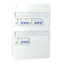 SCHNEIDER RESI9 XP Tableau électrique prééquipé 2 rangées 3ID 40A 9 disjoncteurs