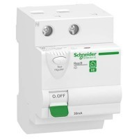 SCHNEIDER Resi9 XE Interrupteur différentiel 63A 30mA type AC auto 3 modules 230V - R9ERD263