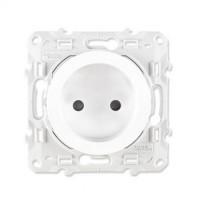 SCHNEIDER Odace Prise de courant 2P blanc à vis - S520033