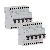 SIEMENS Lot de 10 disjoncteurs 10A Ph+N Courbe C 4.5kA 230V