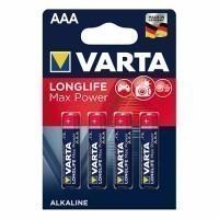 VARTA 4 Piles alcaline Longlife Max Power 1,5V LR03-AAA - 4703110404