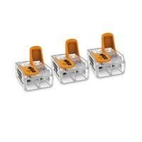 WAGO S221 3 mini bornes de connexion rapide 2 entrées fils souples et rigides 0.5 à 6mm² - 221-612