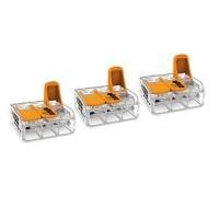 WAGO S221 3 mini bornes de connexion rapide 3 entrées fils souples et rigides 0.5 à 6mm²- 221-613