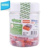 WAGO Flacon de 50 mini-bornes de connexion 3 fils S2273