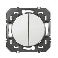 LEGRAND Dooxie Interrupteur double va et vient blanc - 600002