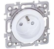 EUROHM Square Prise de courant 2P+T blanc - 60260