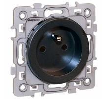 EUROHM Square Prise de courant 2P+T antrhracite - 60360