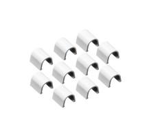 INOFIX Cablefix Accessoires droits 5,5 x 5,5 mm pour gaine adhésive - Blanc