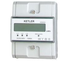 KETLER Compteur d'énergie 80A Tétrapolaire avec Ecran LCD - KE8004