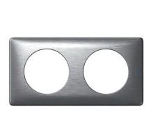 LEGRAND Céliane Plaque - Anodisé - 2 postes Aluminium