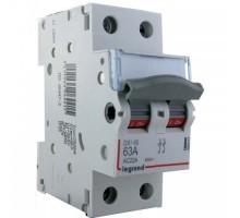 LEGRAND Interrupteur sectionneur de tête 2P 400V 63A 2M - 406441