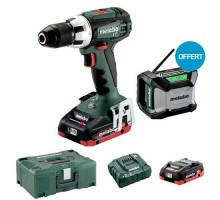 METABO Perceuse visseuse sans fil 18V 2 batteries 4Ah LiHD en coffret - 602102800