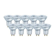OSRAM Lot de 10 spots LED PAR16 dimmable GU10 36° 230V 6,4W(=50W) 350lm 2700°K
