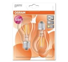 OSRAM Lot de 2 Ampoules LED filament E27 standard 806lm 230V 7W