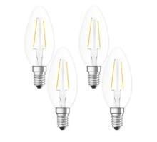 OSRAM Lot de 4 ampoules LED filament E14 230V 2,5W(=25W) 250lm 2700°K flamme