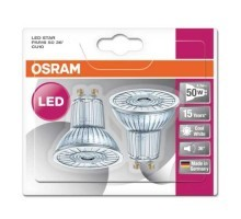 OSRAM Lot de 2 Spots LED PAR16 350lm GU10 36° 230V 4,3W