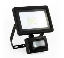 Projecteur extérieur LED extra plat à détection 230V 20W 1800lm 4000°K noir