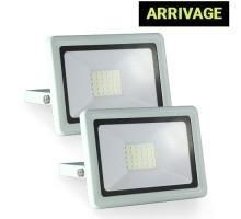 Projecteur extérieur LED extra plat 230V 30W 27000lm 4000°K blanc - Lot de 2
