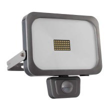 Projecteur extérieur LED extra plat à détection 230V 30W 2700lm 4000K gris