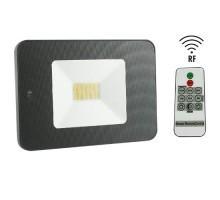 Projecteur extérieur LED extra plat à détection radio avec télécommande 230V 30W 2550lm 4000°K noir