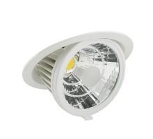 Spot LED escargot encastrable et orientable 230V 35W 3500lm 4000°K blanc
