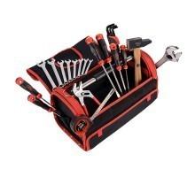 SAM OUTILLAGE Caisse à outils textile avec 27 outils - CP28BAGZ