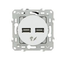 SCHNEIDER Odace Mécanisme prise double chargeur USB - S520409