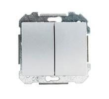 SIEMENS Delta Iris Mécanisme interrupteur double va et vient - Silver