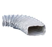 Gaine VMC plate souple renforcée en PVC L6m D80mm - 63208006