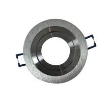 VISION-EL Support de spot rond aluminium brossé