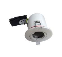 VISION-EL Support de spot BBC rond blanc orientable avec douille automatique