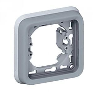 Support plaque encastr/é 2 postes vertical Plexo Legrand 0 696 85 gris