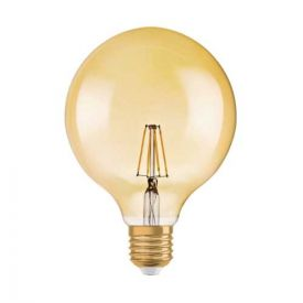 OSRAM Ampoule LED filament E27 230V 6,5W 650lm dimmable édition 1906 globe or 125mm