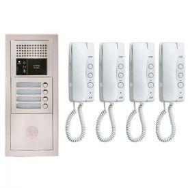 Pack interphone encastré avec 4 combinés - GTBA4E AIPHONE