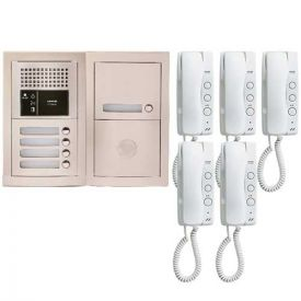 Pack interphone encastré avec 5 combinés - GTBA5E AIPHONE